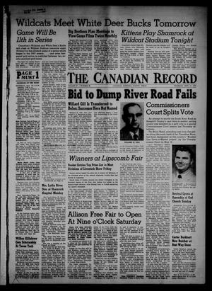 Primary view of object titled 'The Canadian Record (Canadian, Tex.), Vol. 67, No. 39, Ed. 1 Thursday, September 27, 1956'.