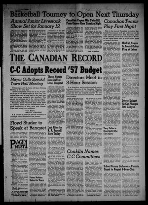 Primary view of object titled 'The Canadian Record (Canadian, Tex.), Vol. 68, No. 1, Ed. 1 Thursday, January 3, 1957'.