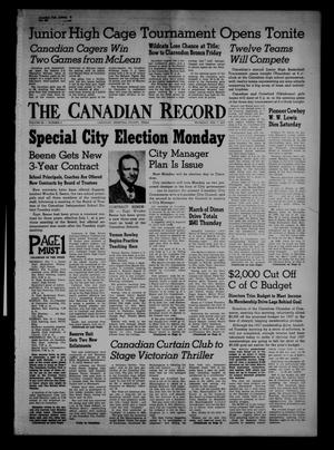 Primary view of object titled 'The Canadian Record (Canadian, Tex.), Vol. 68, No. 6, Ed. 1 Thursday, February 7, 1957'.