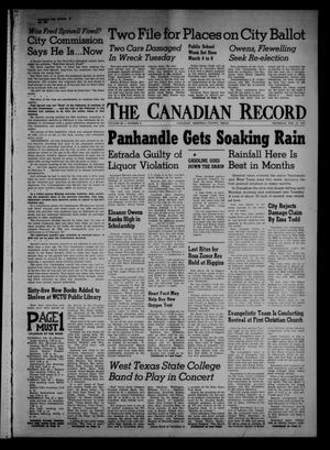Primary view of object titled 'The Canadian Record (Canadian, Tex.), Vol. 68, No. 8, Ed. 1 Thursday, February 21, 1957'.