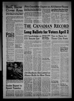 Primary view of object titled 'The Canadian Record (Canadian, Tex.), Vol. 68, No. 10, Ed. 1 Thursday, March 7, 1957'.