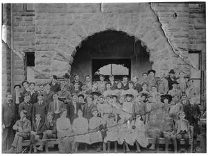 Primary view of object titled '[Graduating Class, Weatherford College, 1903]'.