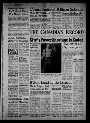 Primary view of object titled 'The Canadian Record (Canadian, Tex.), Vol. 68, No. 32, Ed. 1 Thursday, August 8, 1957'.