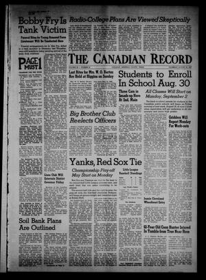Primary view of object titled 'The Canadian Record (Canadian, Tex.), Vol. 68, No. 34, Ed. 1 Thursday, August 22, 1957'.