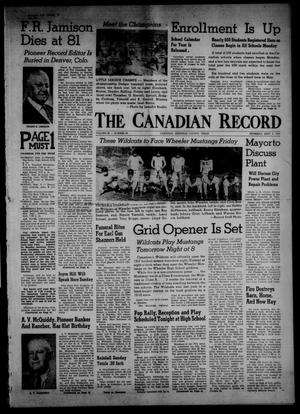 Primary view of object titled 'The Canadian Record (Canadian, Tex.), Vol. 68, No. 36, Ed. 1 Thursday, September 5, 1957'.