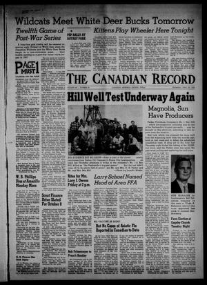 Primary view of object titled 'The Canadian Record (Canadian, Tex.), Vol. 68, No. 39, Ed. 1 Thursday, September 26, 1957'.