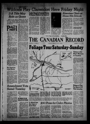 Primary view of object titled 'The Canadian Record (Canadian, Tex.), Vol. 68, No. 44, Ed. 1 Thursday, October 31, 1957'.