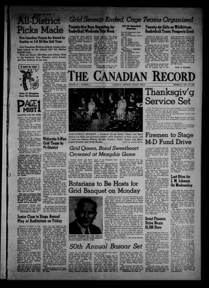 Primary view of object titled 'The Canadian Record (Canadian, Tex.), Vol. 68, No. 47, Ed. 1 Thursday, November 21, 1957'.