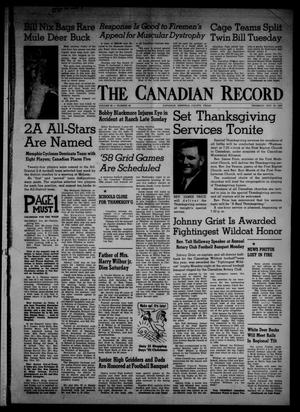 Primary view of object titled 'The Canadian Record (Canadian, Tex.), Vol. 68, No. 48, Ed. 1 Thursday, November 28, 1957'.