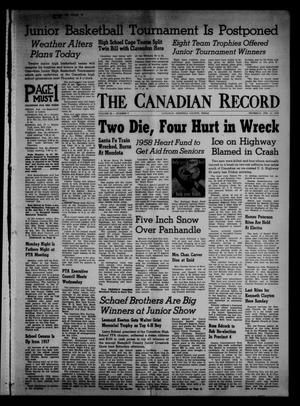 Primary view of object titled 'The Canadian Record (Canadian, Tex.), Vol. 69, No. 7, Ed. 1 Thursday, February 13, 1958'.