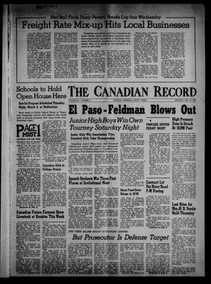 Primary view of object titled 'The Canadian Record (Canadian, Tex.), Vol. 69, No. 9, Ed. 1 Thursday, February 27, 1958'.