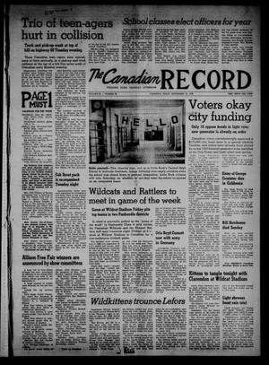 The Canadian Record (Canadian, Tex.), Vol. 69, No. 39, Ed. 1 Thursday, September 25, 1958