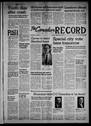 Primary view of object titled 'The Canadian Record (Canadian, Tex.), Vol. 70, No. 12, Ed. 1 Thursday, March 19, 1959'.