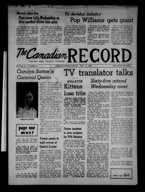 Primary view of object titled 'The Canadian Record (Canadian, Tex.), Vol. 70, No. 45, Ed. 1 Thursday, November 5, 1959'.