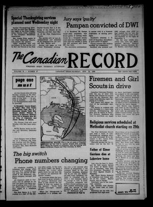 Primary view of object titled 'The Canadian Record (Canadian, Tex.), Vol. 70, No. 47, Ed. 1 Thursday, November 19, 1959'.
