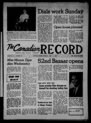 Primary view of object titled 'The Canadian Record (Canadian, Tex.), Vol. 70, No. 49, Ed. 1 Thursday, December 3, 1959'.