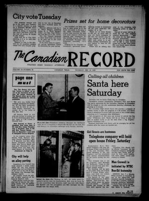 Primary view of object titled 'The Canadian Record (Canadian, Tex.), Vol. 70, No. 50, Ed. 1 Thursday, December 10, 1959'.