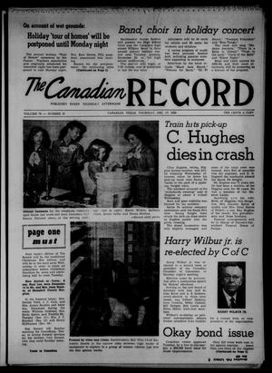 Primary view of object titled 'The Canadian Record (Canadian, Tex.), Vol. 70, No. 51, Ed. 1 Thursday, December 17, 1959'.