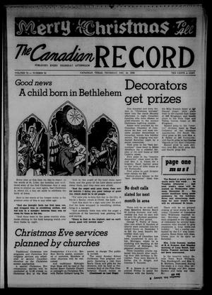 Primary view of object titled 'The Canadian Record (Canadian, Tex.), Vol. 70, No. 52, Ed. 1 Thursday, December 24, 1959'.