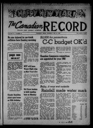 The Canadian Record (Canadian, Tex.), Vol. 70, No. 53, Ed. 1 Thursday, December 31, 1959
