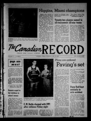 Primary view of object titled 'The Canadian Record (Canadian, Tex.), Vol. 71, No. 2, Ed. 1 Thursday, January 14, 1960'.