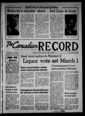 Primary view of object titled 'The Canadian Record (Canadian, Tex.), Vol. 71, No. 6, Ed. 1 Thursday, February 11, 1960'.