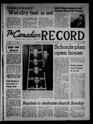 Primary view of object titled 'The Canadian Record (Canadian, Tex.), Vol. 71, No. 8, Ed. 1 Thursday, February 25, 1960'.