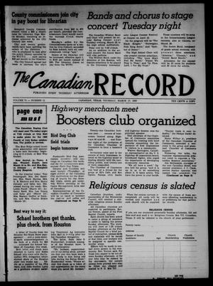 Primary view of object titled 'The Canadian Record (Canadian, Tex.), Vol. 71, No. 11, Ed. 1 Thursday, March 17, 1960'.