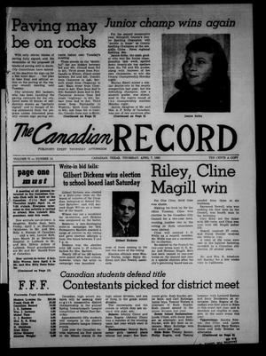 Primary view of object titled 'The Canadian Record (Canadian, Tex.), Vol. 71, No. 14, Ed. 1 Thursday, April 7, 1960'.
