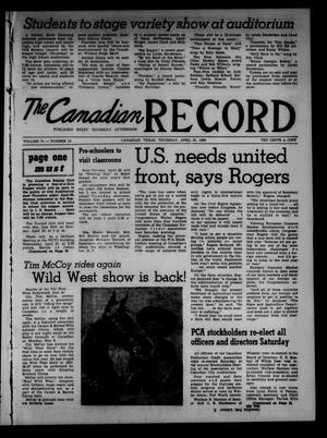 Primary view of object titled 'The Canadian Record (Canadian, Tex.), Vol. 71, No. 16, Ed. 1 Thursday, April 21, 1960'.