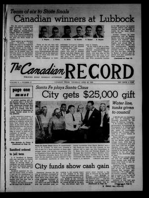 Primary view of object titled 'The Canadian Record (Canadian, Tex.), Vol. 71, No. 17, Ed. 1 Thursday, April 28, 1960'.