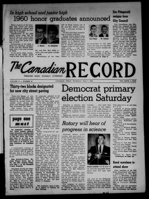 Primary view of object titled 'The Canadian Record (Canadian, Tex.), Vol. 71, No. 18, Ed. 1 Thursday, May 5, 1960'.