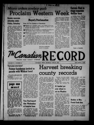 Primary view of object titled 'The Canadian Record (Canadian, Tex.), Vol. 71, No. 25, Ed. 1 Thursday, June 23, 1960'.