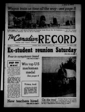Primary view of object titled 'The Canadian Record (Canadian, Tex.), Vol. 71, No. 31, Ed. 1 Thursday, August 4, 1960'.