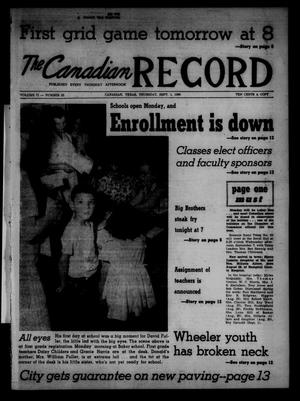 Primary view of object titled 'The Canadian Record (Canadian, Tex.), Vol. 71, No. 35, Ed. 1 Thursday, September 1, 1960'.