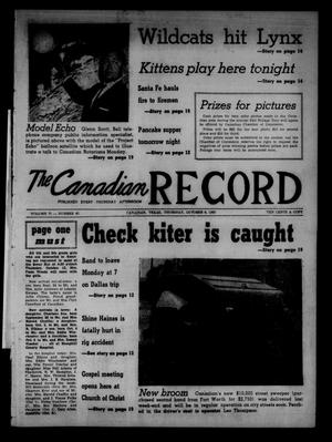 Primary view of object titled 'The Canadian Record (Canadian, Tex.), Vol. 71, No. 40, Ed. 1 Thursday, October 6, 1960'.