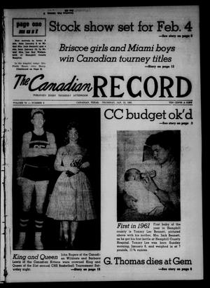 Primary view of object titled 'The Canadian Record (Canadian, Tex.), Vol. 72, No. 2, Ed. 1 Thursday, January 12, 1961'.