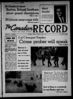 Primary view of object titled 'The Canadian Record (Canadian, Tex.), Vol. 72, No. 6, Ed. 1 Thursday, February 9, 1961'.