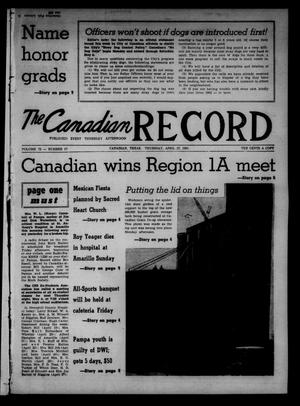 Primary view of object titled 'The Canadian Record (Canadian, Tex.), Vol. 72, No. 17, Ed. 1 Thursday, April 27, 1961'.