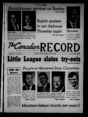 Primary view of object titled 'The Canadian Record (Canadian, Tex.), Vol. 72, No. 19, Ed. 1 Thursday, May 11, 1961'.