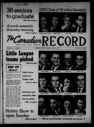 The Canadian Record (Canadian, Tex.), Vol. 72, No. 20, Ed. 1 Thursday, May 18, 1961