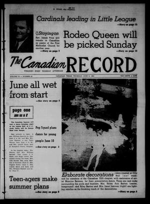 Primary view of object titled 'The Canadian Record (Canadian, Tex.), Vol. 72, No. 23, Ed. 1 Thursday, June 8, 1961'.