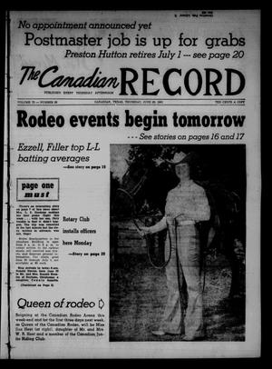 The Canadian Record (Canadian, Tex.), Vol. 72, No. 26, Ed. 1 Thursday, June 29, 1961