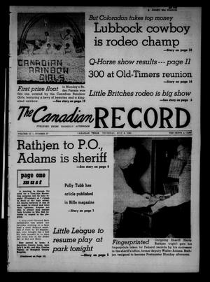 The Canadian Record (Canadian, Tex.), Vol. 72, No. 27, Ed. 1 Thursday, July 6, 1961