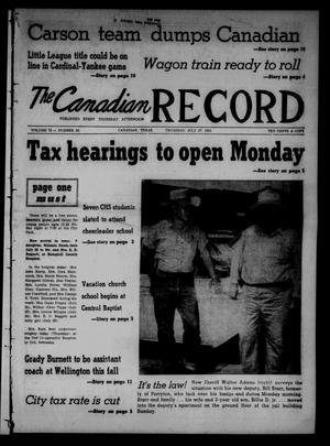 Primary view of object titled 'The Canadian Record (Canadian, Tex.), Vol. 72, No. 30, Ed. 1 Thursday, July 27, 1961'.