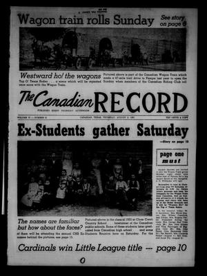 The Canadian Record (Canadian, Tex.), Vol. 72, No. 31, Ed. 1 Thursday, August 3, 1961