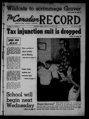 Primary view of object titled 'The Canadian Record (Canadian, Tex.), Vol. 72, No. 34, Ed. 1 Thursday, August 24, 1961'.