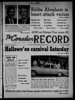 Primary view of object titled 'The Canadian Record (Canadian, Tex.), Vol. 72, No. 43, Ed. 1 Thursday, October 26, 1961'.