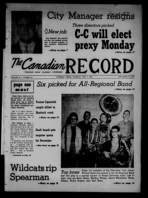 Primary view of object titled 'The Canadian Record (Canadian, Tex.), Vol. 72, No. 49, Ed. 1 Thursday, December 7, 1961'.