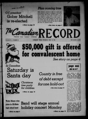 The Canadian Record (Canadian, Tex.), Vol. 72, No. 50, Ed. 1 Thursday, December 14, 1961